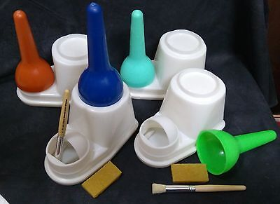 Glue Container Set ( Pot + Brush + Rubber) Leather Craft Tools