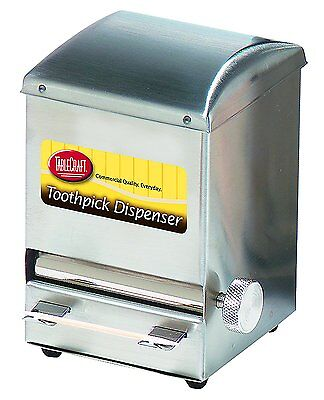 Tablecraft Stainless Steel Toothpick Dispenser/Holder - Holds 750, NEW