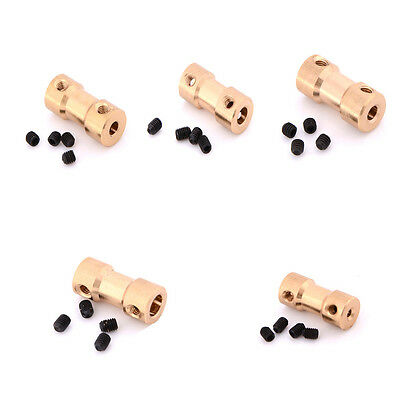 New 2/3/3.17/4/5mm Motor Copper Shaft Coupling Coupler Connector Sleeve Adapter@
