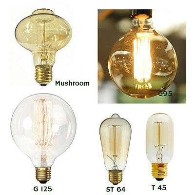 60W Filament Light Bulb Vintage Edison Squirrel Cage Decorative Industrial