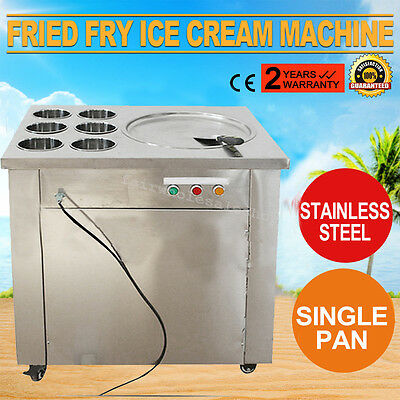 US Commercial Fried Ice Cream Machine,1 pan 6 boxes Ice Crean Roll Making Summer