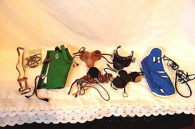 Lot of BREYER Bridles (Martingale) Blankets & Leather English Saddles