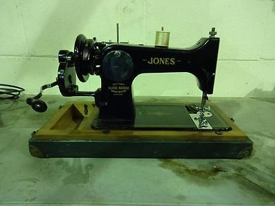 Jones Family D53A Vintage Hand Operating Sewing Machine with Case