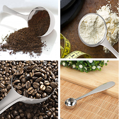 1PC Stainless Steel Measuring Spoon Tea Baking Sugar Coffee Scoop 10ML 13*3.5cm