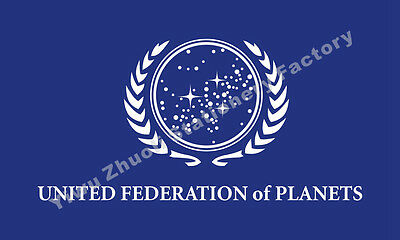 Star Trek United Federation of Planets Flag 3X2FT 5X3FT 6X4FT 8X5FT Polyester