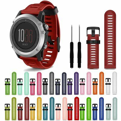 Sports Soft Silicone Strap Replacement Watch Band With Tools For Garmin Fenix 3