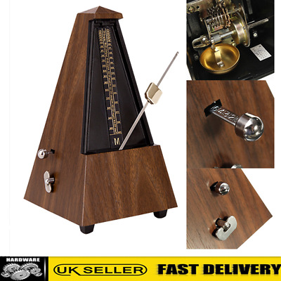 Retro Teak Mechanical Beat Metronome For Piano Guitar Violin Musical Instrument