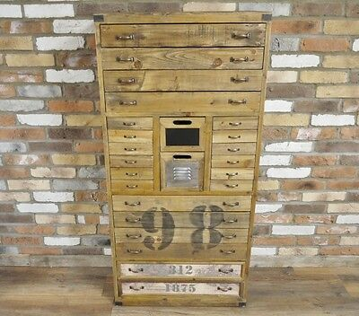 Vintage Retro Antique Style Wooden Tall Chest Drawers Storage Cabinet (Dx4572)