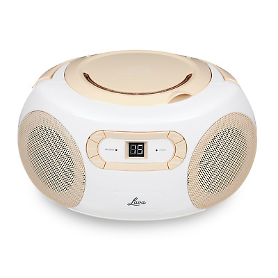 Lava CD72-CR CD Radio Boombox Player RMS Power 10W with FM AM Tuner in Cream