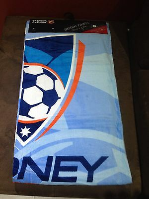 Brand New Official Licensed Sydney FC Beach Towel 150cm By 75cm 50% Off Sale