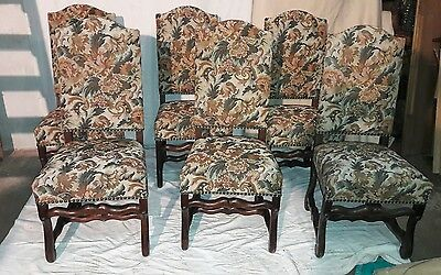 six chaises style  louis XIII