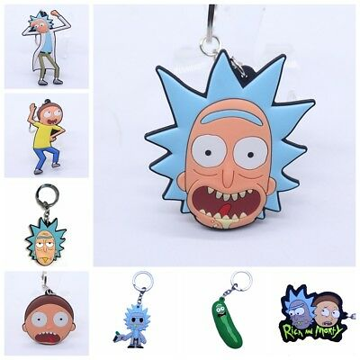 New Rick and Morty Rubber Keyring Keychain Double Sides