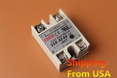 24V-380V SSR-40 DA Solid State Relay Module Tool for PID Temperature Controller