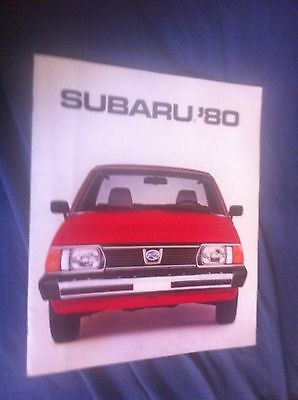 1980 Subaru 2X4 4X4 Full Line with BRAT  Color Sales Brochure Catalog Prospekt