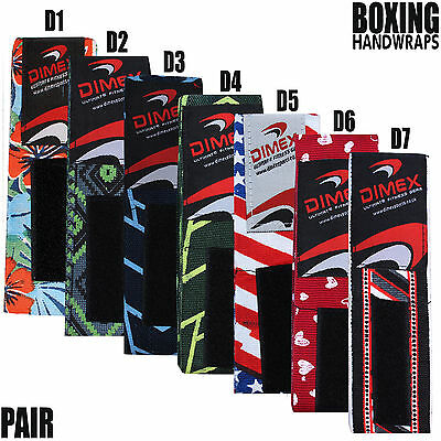 Hand Wraps Bandages Fist Boxing Inner Gloves Mitts MMA Cotton Printed Pair