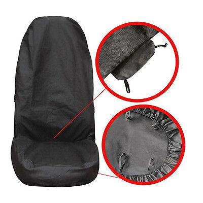 Universal Black Front Seat Cover Protector For Any Car Van Lorry Truck P1