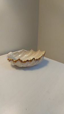 Lenox Shell Dish Ivory with Gold Trim