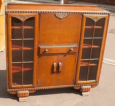 Antique Bureau / Display Cabinet  1940s