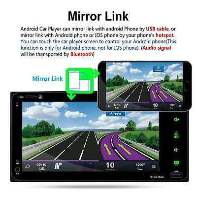 """New 2 Din 7"""" Dual Core Android 6.0 GPS Navi Car  Player WIFI BT Radio"""