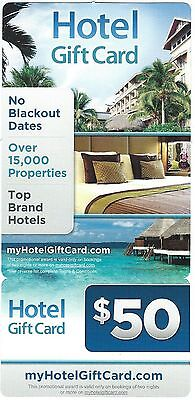 $50 Hotel Gift Card For Hilton Marriot Radisson 20,000 Hotels