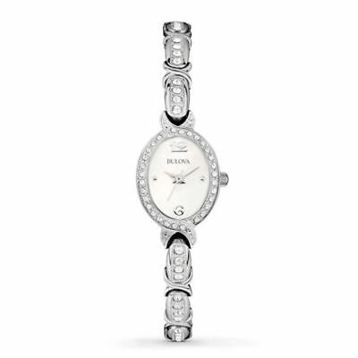 Bulova Women's 96L199 Analog Display Japanese Quartz White Watch