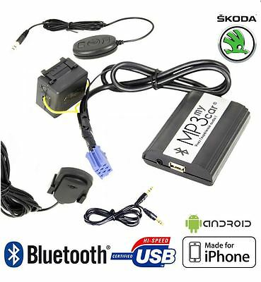 Boitier MP3 USB AUX Bluetooth SKODA Fabia Octavia Superb MFD Navi Melody av. 200