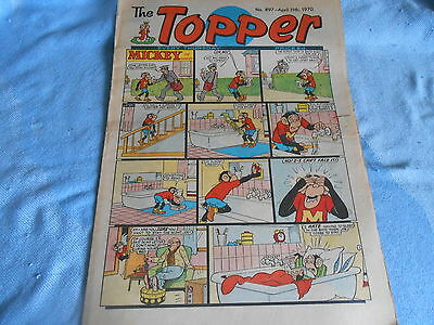 Vintage CLASSIC UK COMIC - TOPPER - 11th April 1970