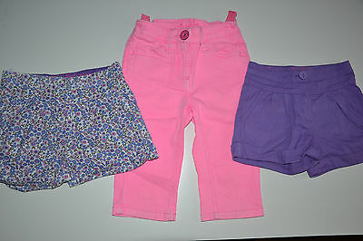 Girls 5 years TU shorts & Next  pink skinny 3/4 trousers
