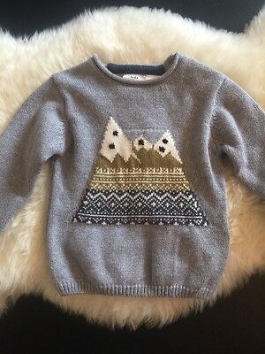 Zara Baby Boy Knit Collection Sweater Size 12/18 Months NWT