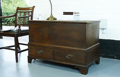 Mid-19th Early Victorian Antique Century Pine Mule Chest in Original Paint