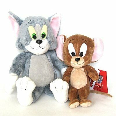 Genuine Licensed Warner Bros. Tom and Jerry Plush Doll Set of 2pcs