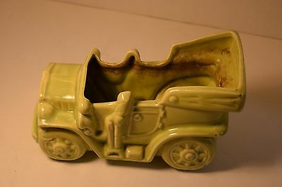 Vintage McCoy Pottery Planter, Car, Unmarked, Green