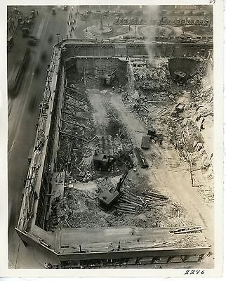 Vintage 8 x10 Photo 3 Marion Osgood Steam Shovels at work in a city