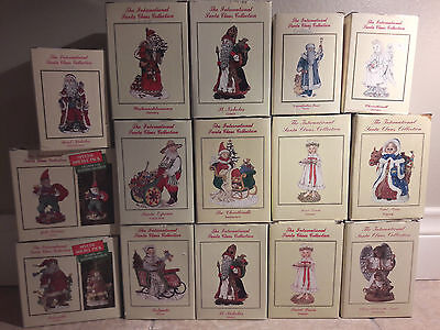 The International Santa Claus Collection - Lot of 15 Figures in boxes