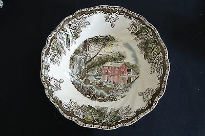 """Johnson Bros. England Friendly Village Round Cereal /Soup Bowl 6"""" -Brown Mark"""