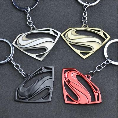 Fashion Super Hero Logo Keychain Keyring Batman Superman Iron Man Key Chain Gift