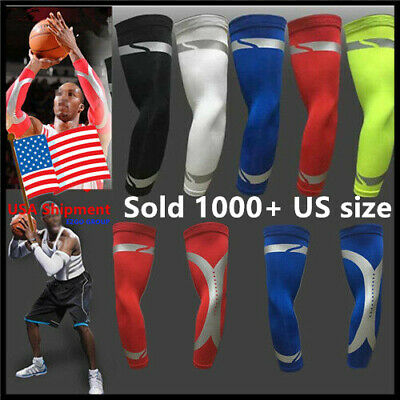 Pair Cooling Arm Sleeves Cover UV Sun Protection Basketball Golf Athletic Sport