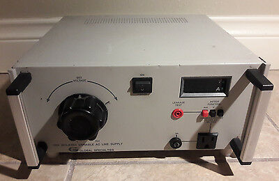 GLOBAL SPECIALTIES  1504  Variable AC Line power supply (1)