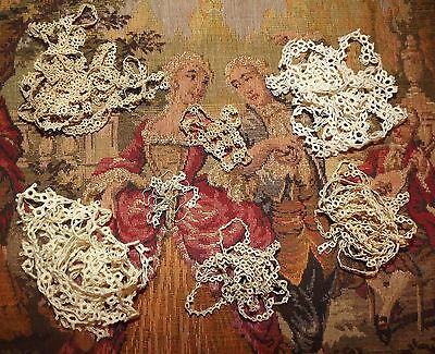 """9.5 yds Lot  ANTIQUE VINTAGE Dainty PETITE Tatting Tatted Lace Trim 342"""""""