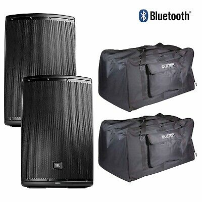 "JBL EON615 2-Way 15"" 1000W Active Powered DJ PA Loud Speakers w Covers Pack"