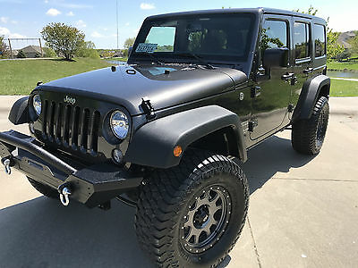 2017 Jeep Wrangler Unlimited Sport Sport Utility 4-Door 2017 Jeep Wrangler Unlimited 4x4 Sport Custom Lifted Loaded - 136-miles