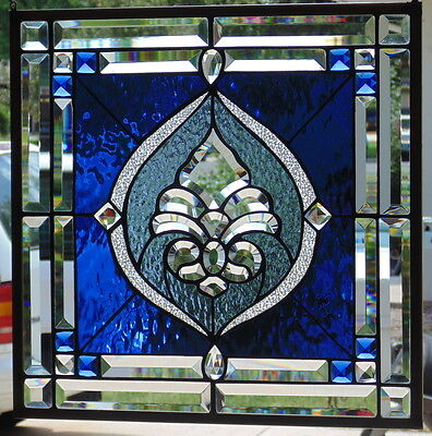 """Stained Glass window hanging 18 X 18"""""""