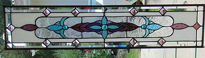 """Stained Glass window Transom or Sidelight hanging 35 1/4 X 7 3/4"""""""