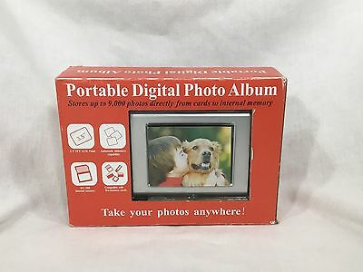 """NEW 3.5"""" Portable Digital Photo Album Picture Frame holds 9,000 pic bx8"""