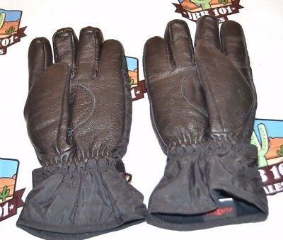 HATCH 85384  BLACK LEATHER GLOVES with THINSULATE SIZE LARGE