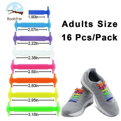 Mix Color Elastic Lacing System Shoes Slip On Laces Hickies Silicone 16pcs Adult