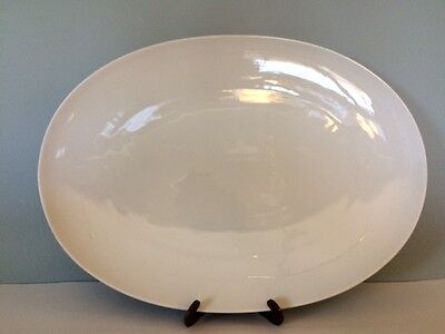 "Rosenthal Continental Rhythm Classic White 15"" Oval Serving Platter R Loewy MCM"