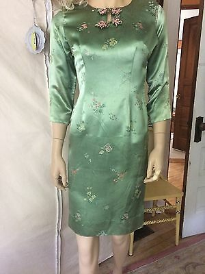Authentic Vintage Green Chinese Silk Dress