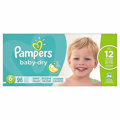 Pampers Baby Dry Diapers Size 6 96 Count NEW
