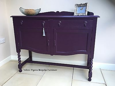 Antique Hand Painted Oak English Sideboard Buffet 50 miles free delivery